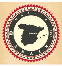 Vintage label-sticker cards of Spain vector image vector image