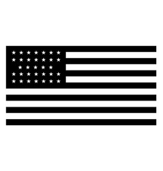 33 star united states flag 1859 vintage vector