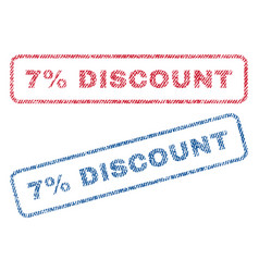 7 percent discount textile stamps vector