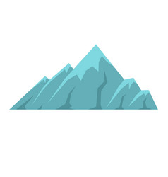 Alpine mountain icon flat style vector