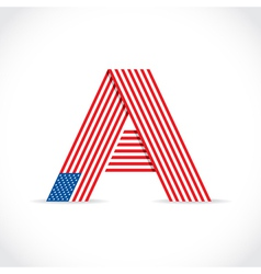 American flag Letter vector image