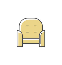 armchair front rgb color icon vector image