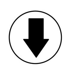 Arrow down isolated icon vector