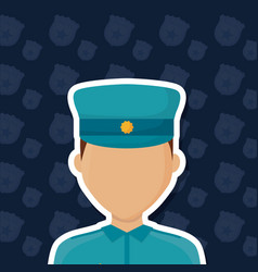 avatar police man icon vector image