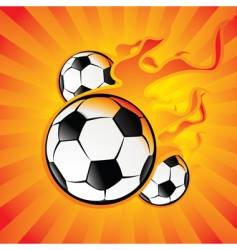 ball in fire vector image