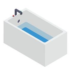 Bathtub isometric vector