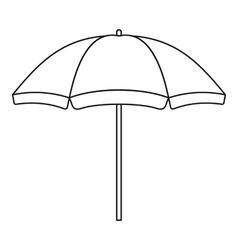 Beach umbrella icon outline style vector image