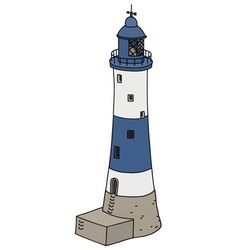 Blue lighthouse vector image