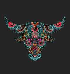 Bull head ornamental vector