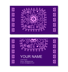 Business card template with ancient vector