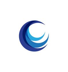C circle logo template design vector