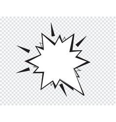 cartoon speech bubbles on transparent background vector image