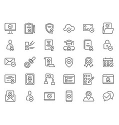 check mark icons quality standard mark confirmed vector image