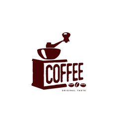 Coffee grinder mill flat icon isolated vector