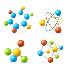 Colorful Molecule Set vector