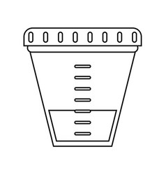 Container sample laboratory icon thin line vector