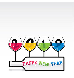 creative new year 2019 greeting design vector image