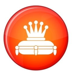 Crown king icon flat style vector