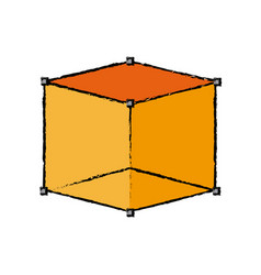 Cube 3d graph design element vector
