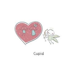 Cupid Creating Love vector image