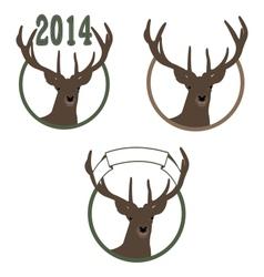 deer symbol of New Year vector image