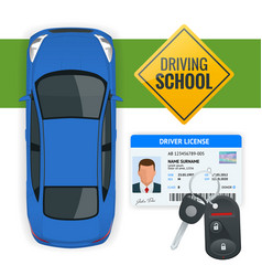 design concept driving school or learning to drive vector image