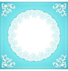 Elegand turquoise vintafe floral frame vector