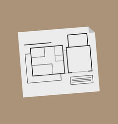 engineer plan scheme with lines and notices vector image