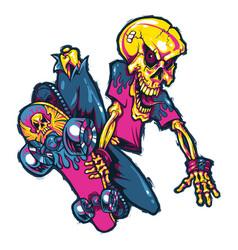 extreme skateboard jump vector image