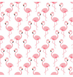 flamingo seamless pattern pink standing vector image