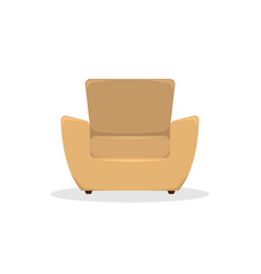 flat beige leather armchair in retro style vector image
