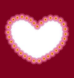 flower decorative frame pattern vector image