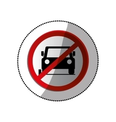 forbidden vehicle roadsign vector image