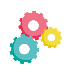 gears cogwheel settings isolated icon design vector image