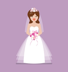Girl in bride dress vector image vector image