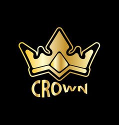 Gold crown logo vector