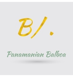 Golden Symbol of the Panamanian Balboa vector image