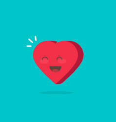 happy cheerful heart isolated vector image