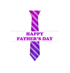 happy fathers day tie with purple gradient vector image