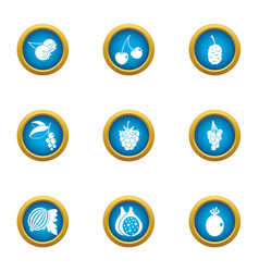 Heavenly delight icons set flat style vector