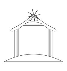Hut of holy night design vector