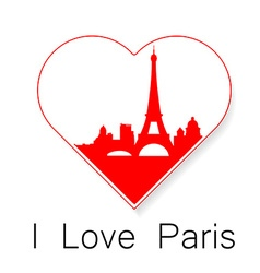i love Paris template vector image vector image