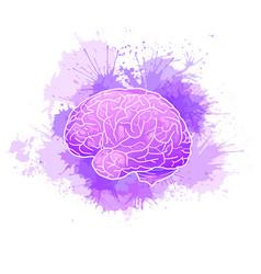 International alzheimers day human brain vector
