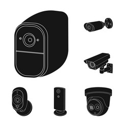 isolated object of cctv and camera sign set of vector image