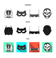 Isolated object of hero and mask logo collection vector