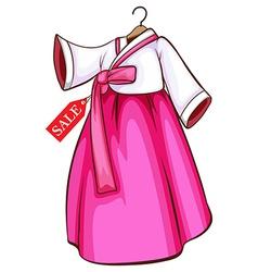 Korean dress vector image