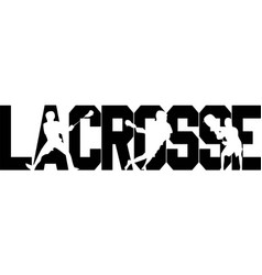 Lacrosse on white background vector