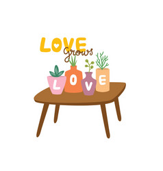 Love grows vector