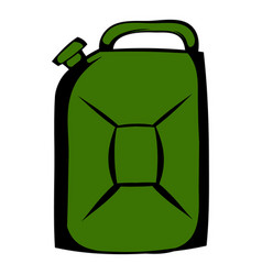 Metal canister icon cartoon vector