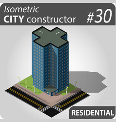 modern isometric house vector image